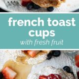 French Toast Cups with text in the center