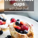 French Toast Cups with text overlay