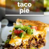 taco pie with text overlay