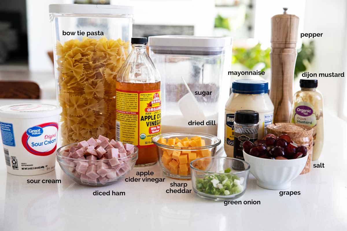 ingredients for bow tie pasta