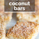 Coconut Bars with text overlay