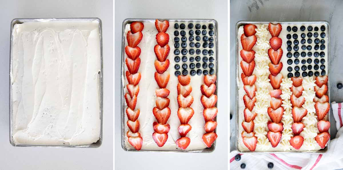 how to decorate a flag cake