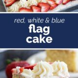Flag Cake with text in the middle