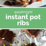 Instant Pot Ribs with text in the middle