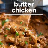 Butter Chicken with text overlay