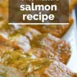 Honey Mustard Salmon with text overlay