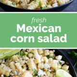 Mexican Corn Salad with text in the middle