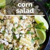 Mexican Corn Salad with text overlay