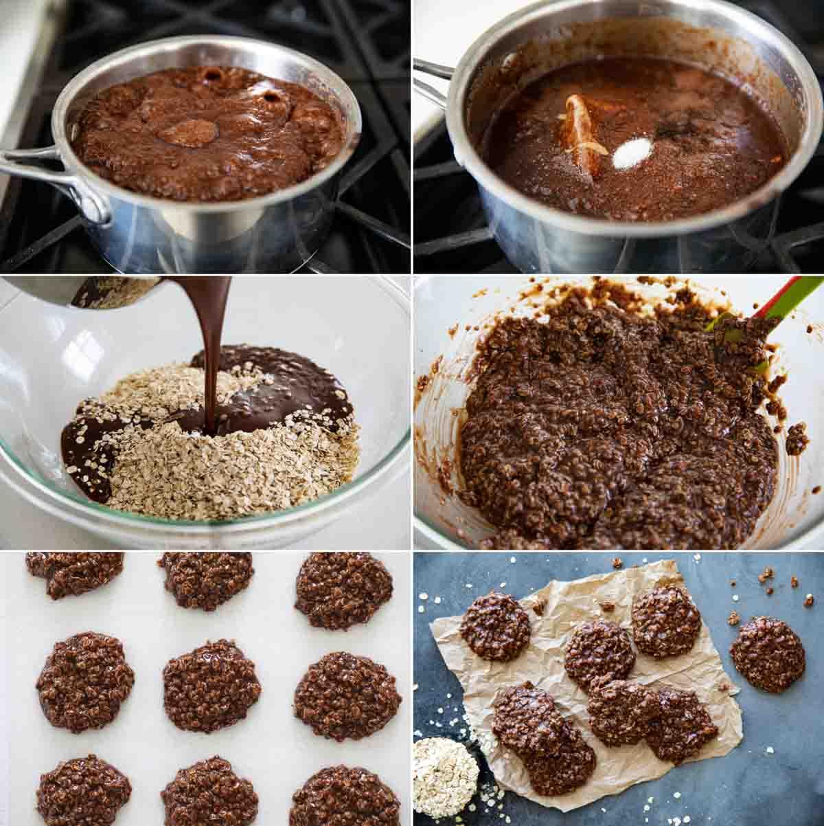steps to make no bake cookies