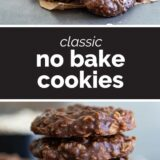 no bake cookies with text in the middle
