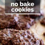 no bake cookies with text overlay