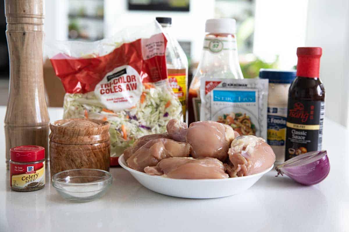 ingredients needed to make slow cooker teriyaki chicken sandwich