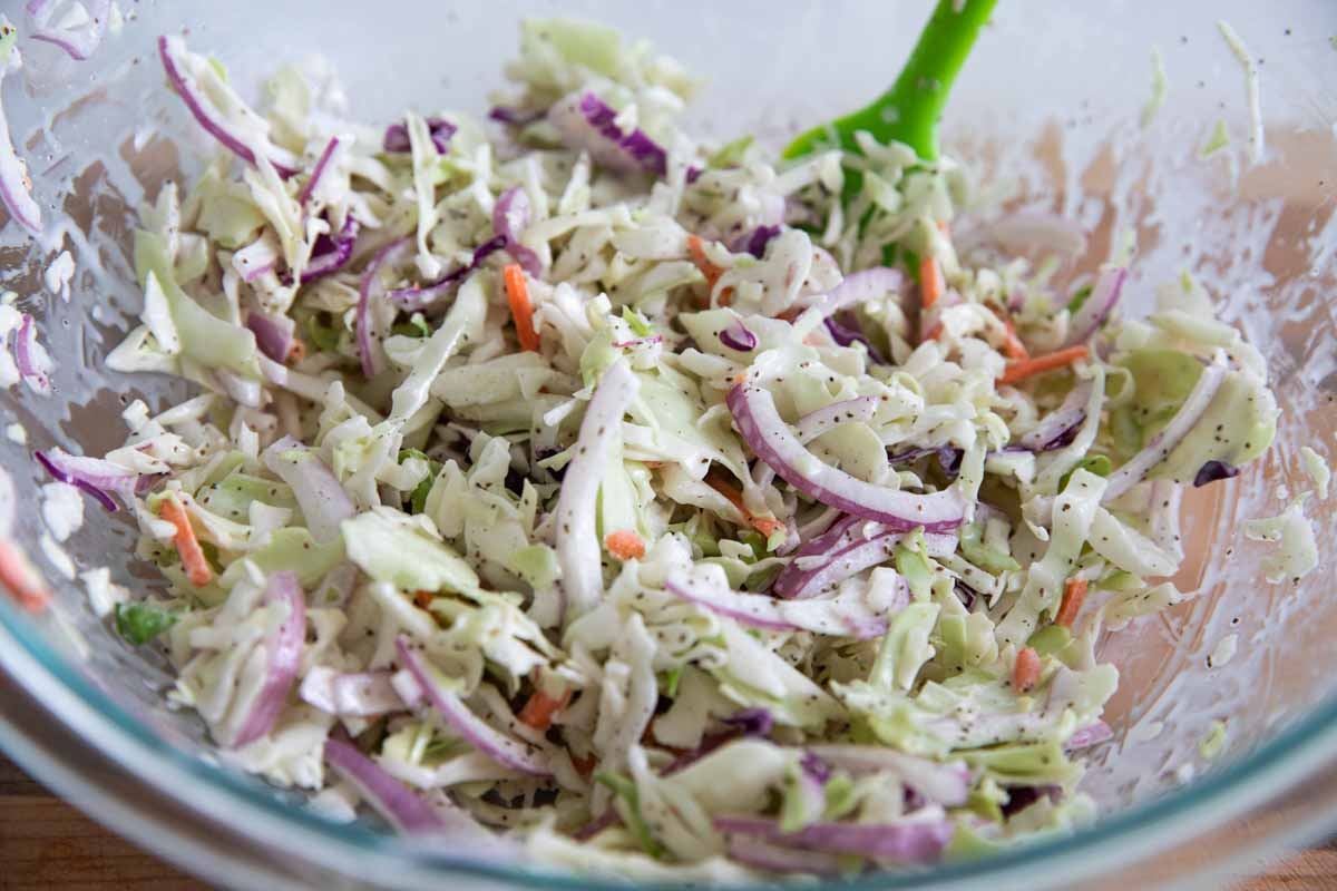 coleslaw to top sandwiches