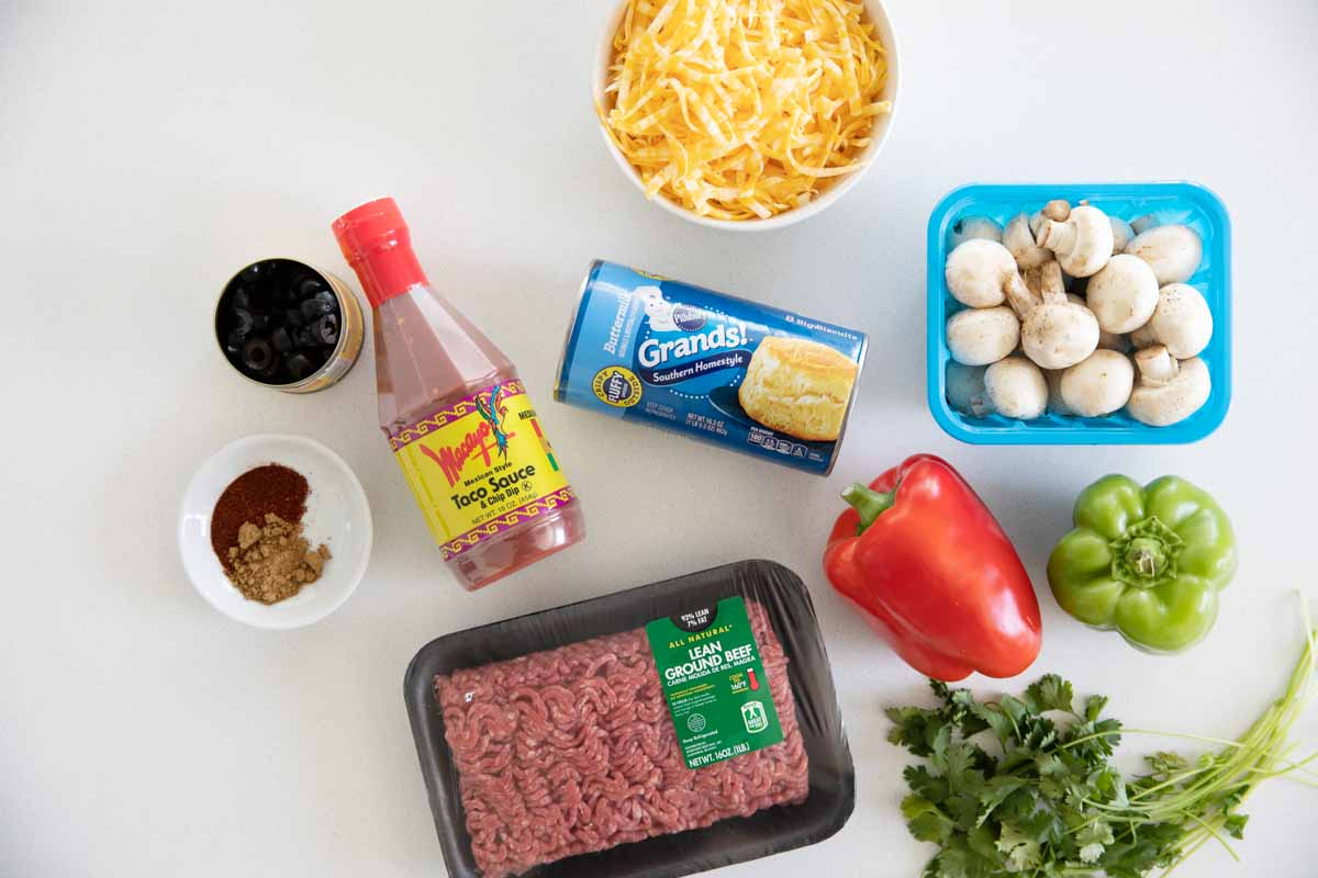 ingredients needed to make taco casserole