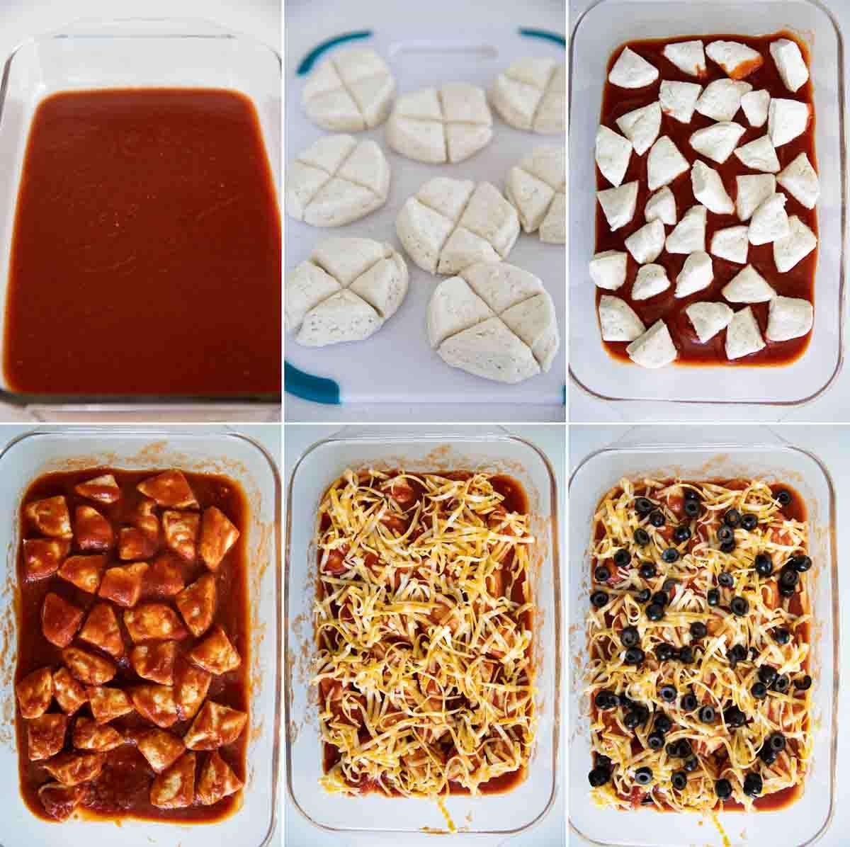 steps to make taco casserole