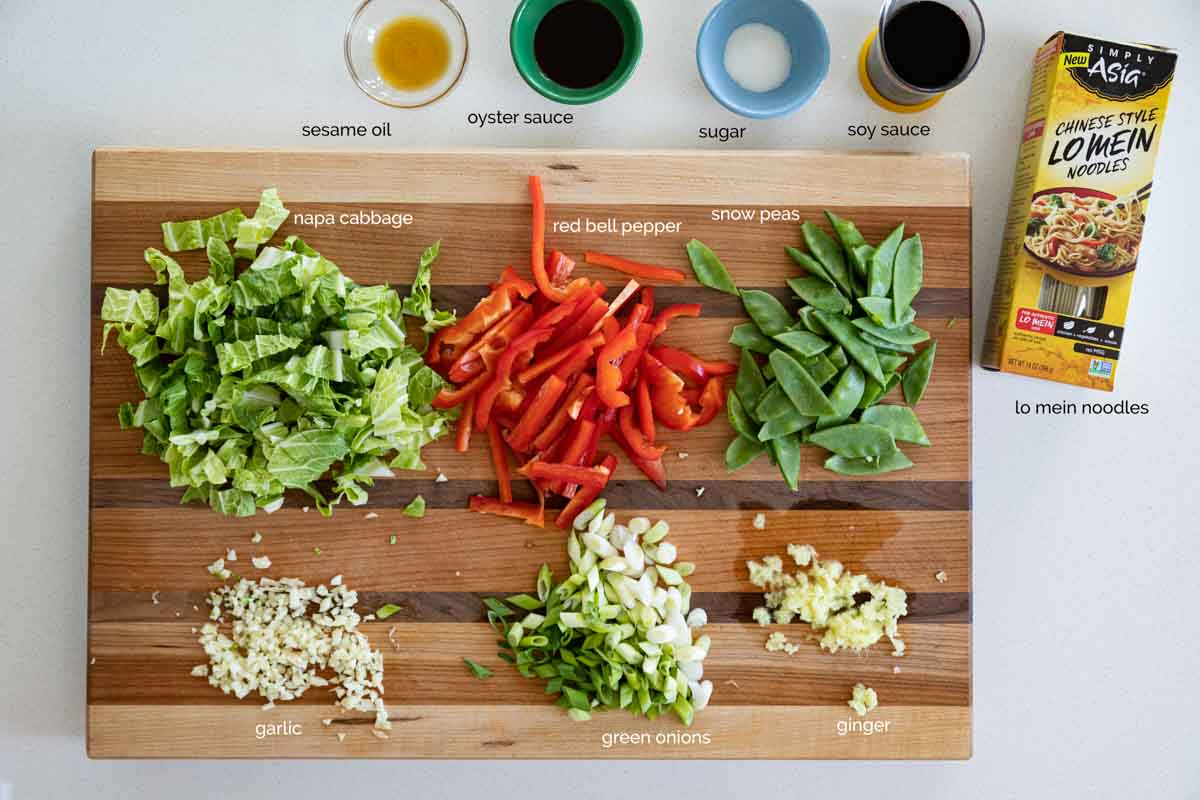 ingredients to make lo mein at home