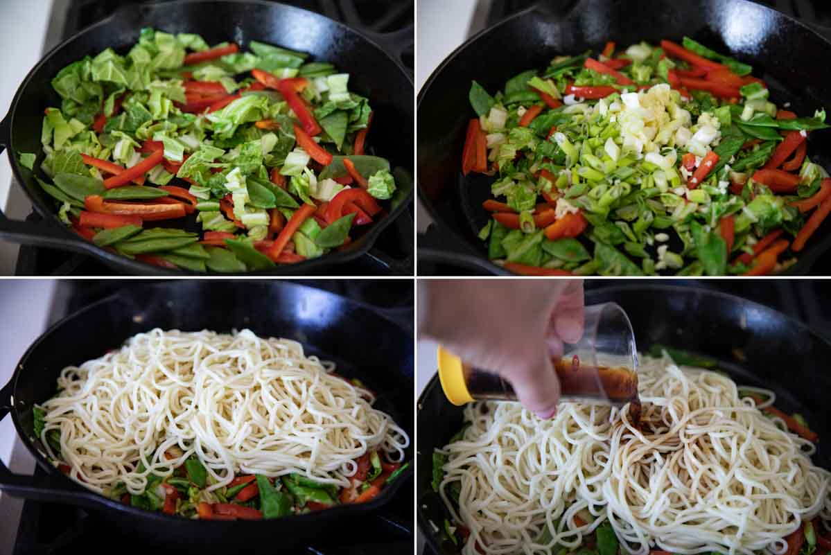 steps to make lo mein