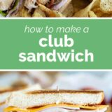 Club Sandwich with text in the middle