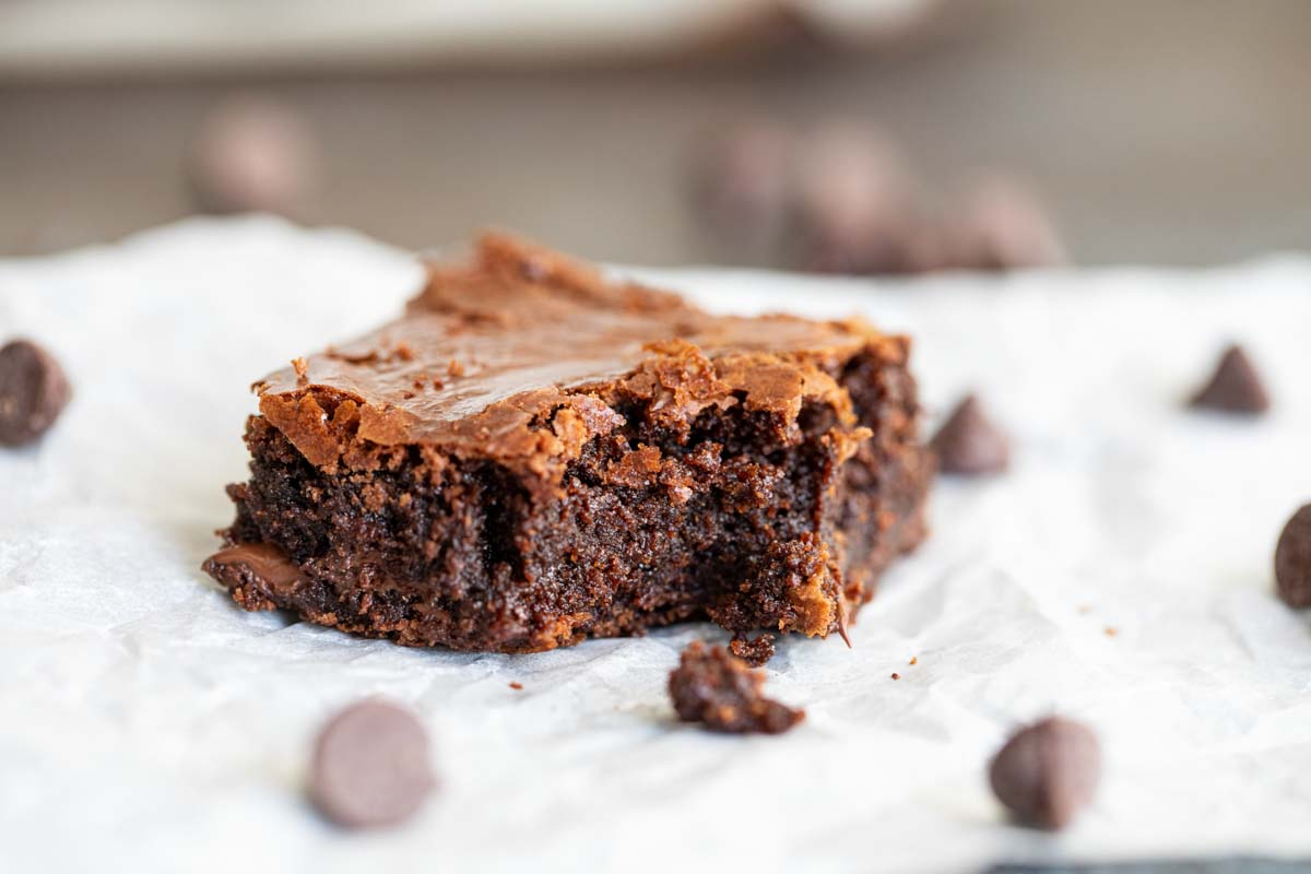 brownie with a bit taken from it