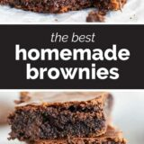 Homemade Brownies with text in the middle