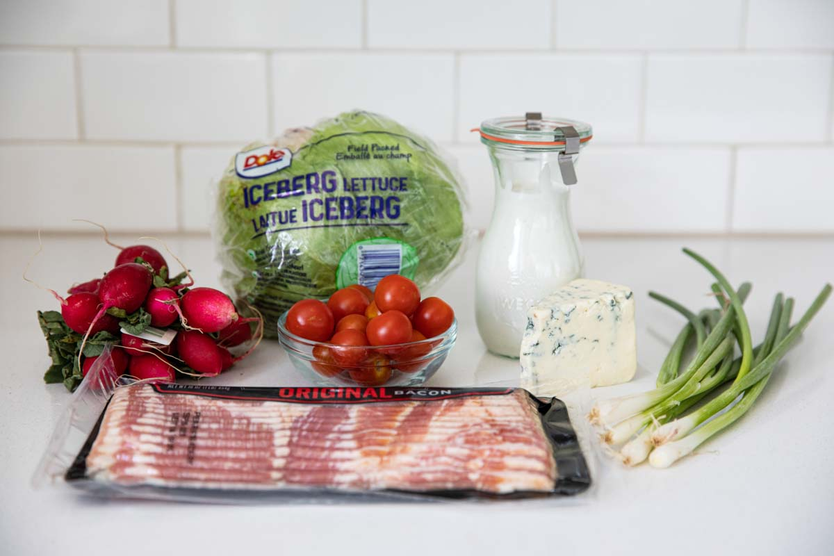 ingredients for a wedge salad