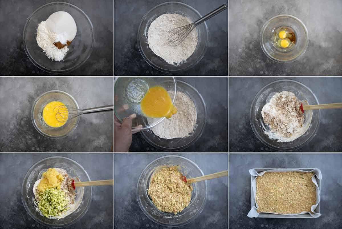 steps to make zucchini cake