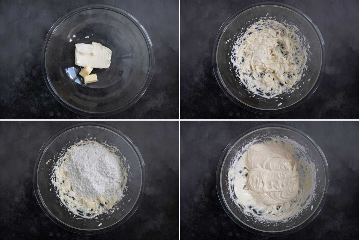 steps to make cream cheese frosting