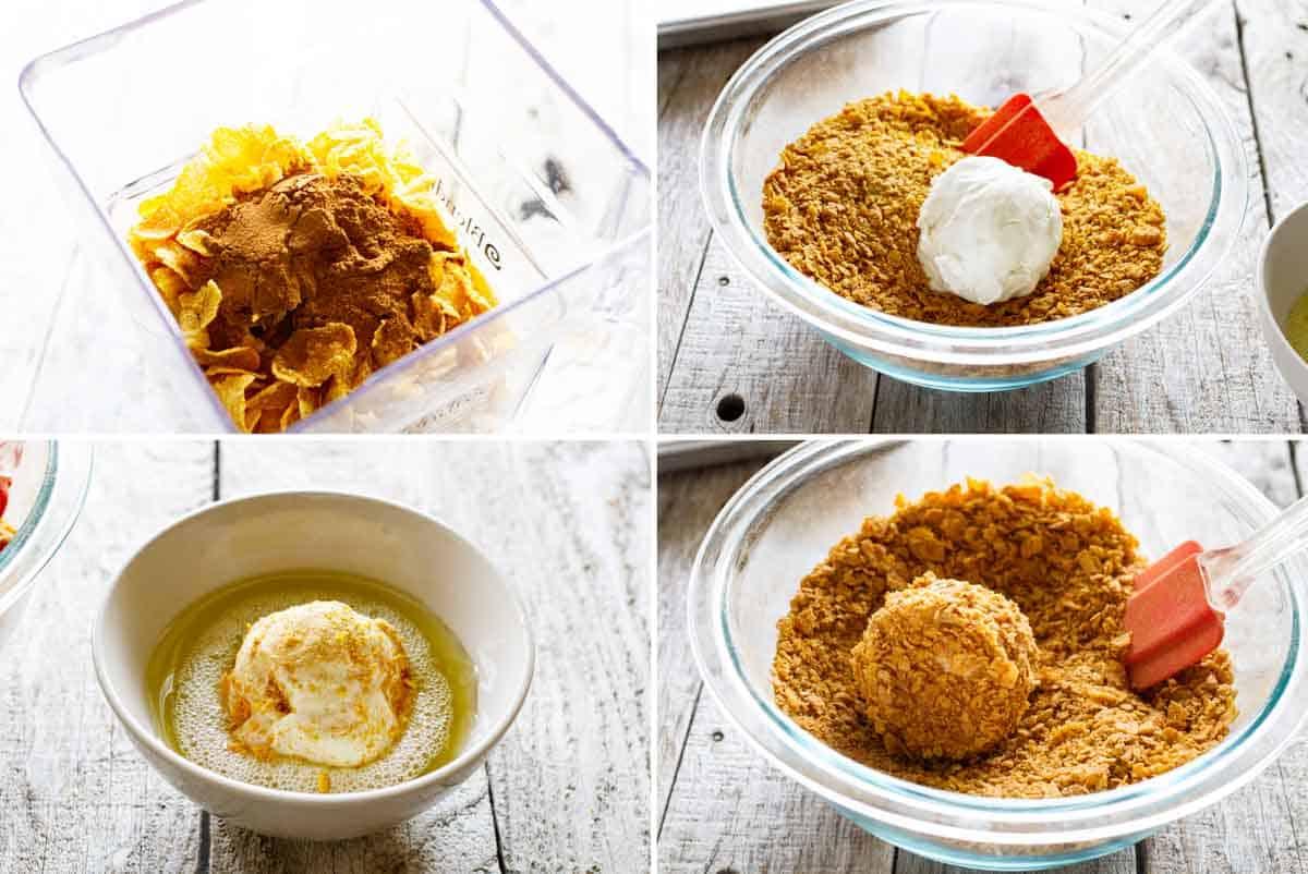 steps to make fried ice cream