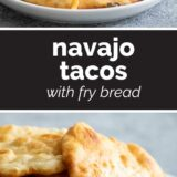 Navajo Tacos with text in the middle