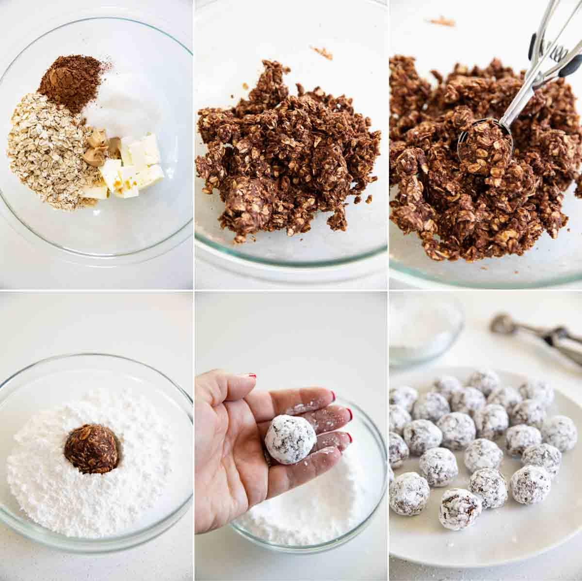steps to make oatmeal balls