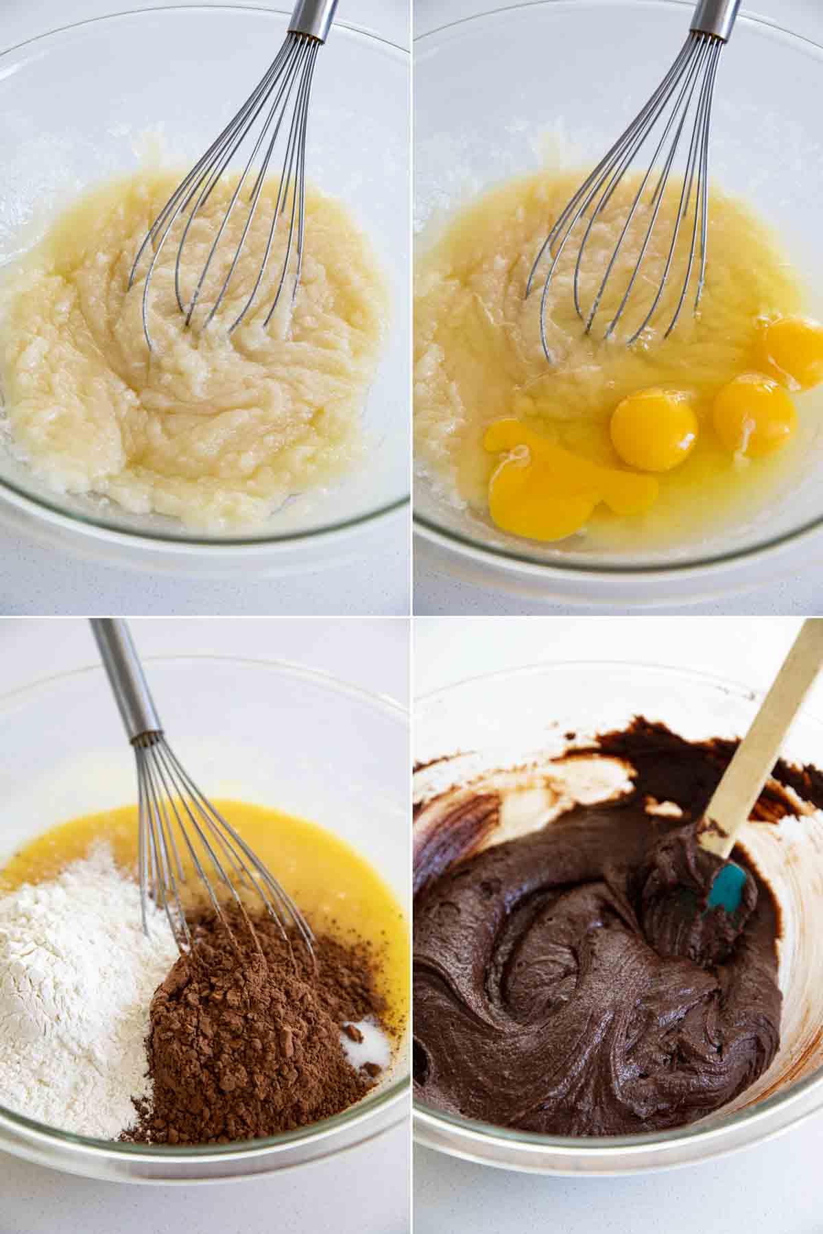steps to make homemade brownies