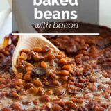 Baked Beans with text overlay