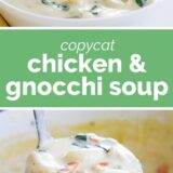chicken and gnocchi soup with text in the middle