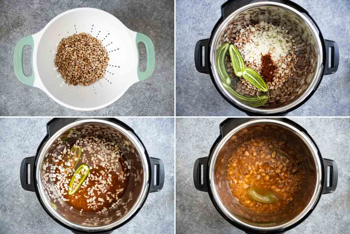 steps to make instant pot pinto beans