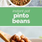 Instant Pot Pinto Beans with text in the middle