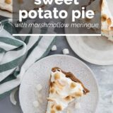 Sweet Potato Pie with text overlay